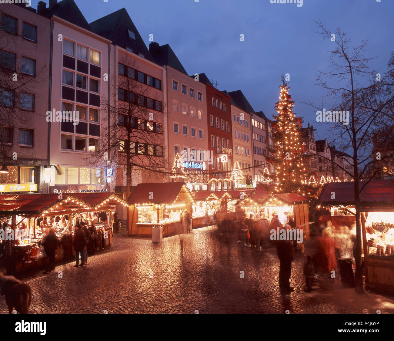 alter markt christmas market at dusk cologne koln stock photo royalty free image 11063241. Black Bedroom Furniture Sets. Home Design Ideas