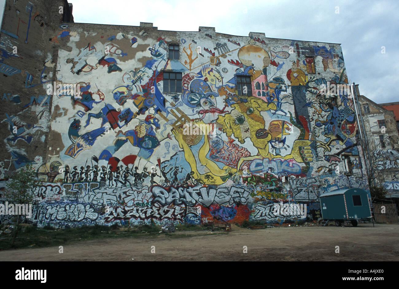Grafiti wall berlin - Graffiti Wall Tacheles Berlin Germany April 2003