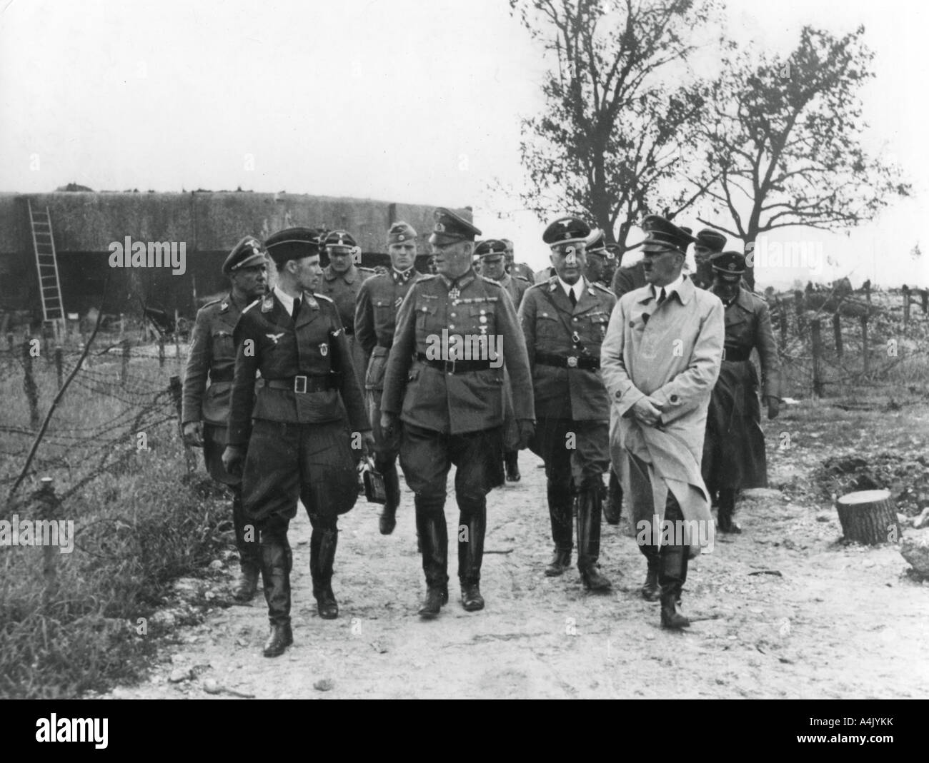 Stock photo adolf hitler and general wilhelm keitel inspecting the