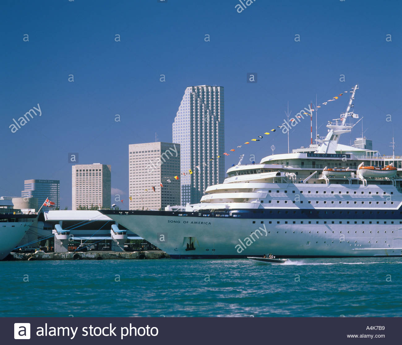 Cruise Ship Port Miami: Song Of Amarica In Cruise Port Miami Florida USA Stock