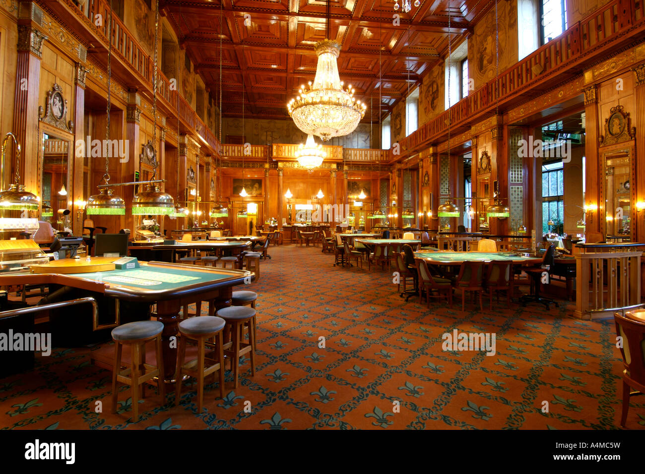 interior of the kurhaus casino in wiesbaden near frankfurt. Black Bedroom Furniture Sets. Home Design Ideas