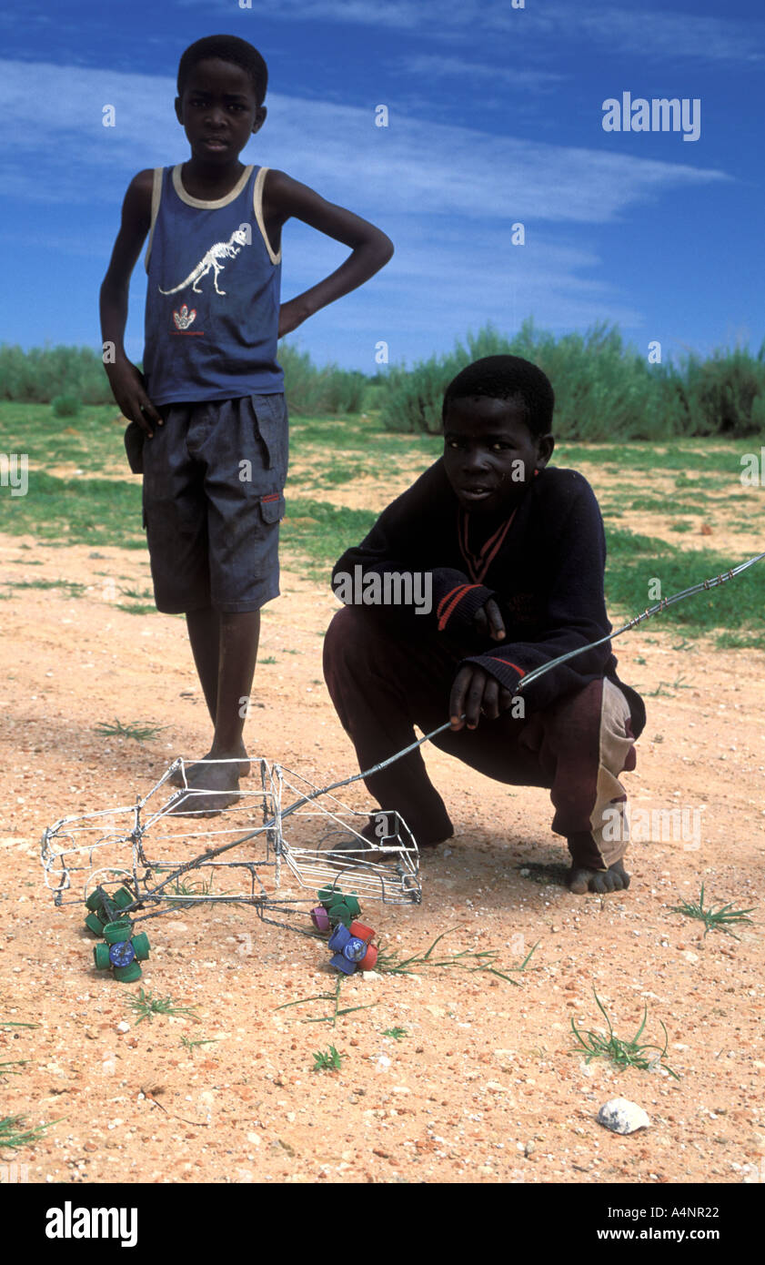 Kids Playing With Self Mde Toys