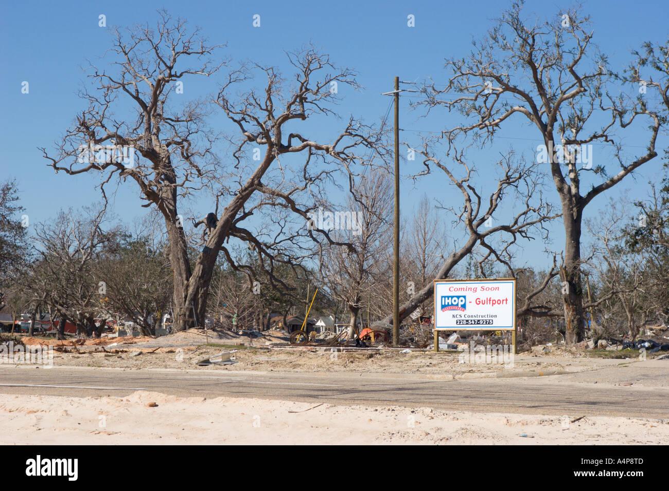 Reconstruction Site For Ihop Restaurant To Rebuild After Hurricane ...