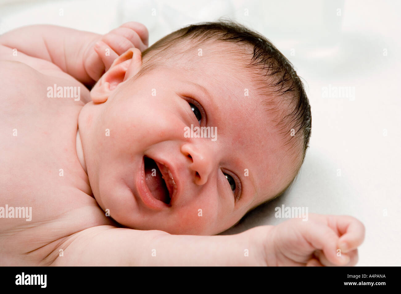 4 Week Old Baby Boy 4 Weeks Stock Photos & 4 Week Old Baby Boy 4 ...