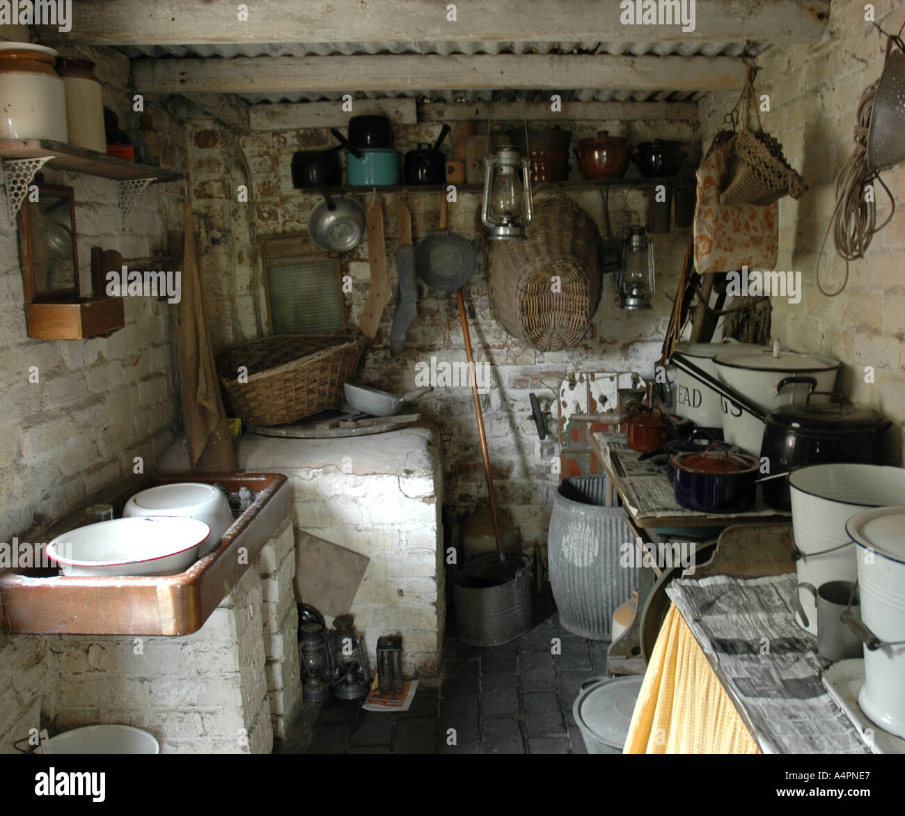 Black Country Kitchen kitchen inside one of the back to back houses at the black country