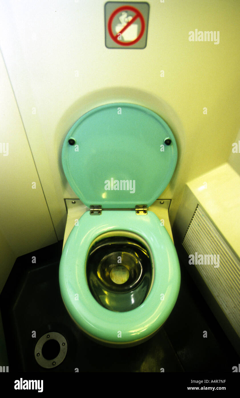 Toilet Onboard A TGV Express Train From Paris To Nice In France - Paris to nice