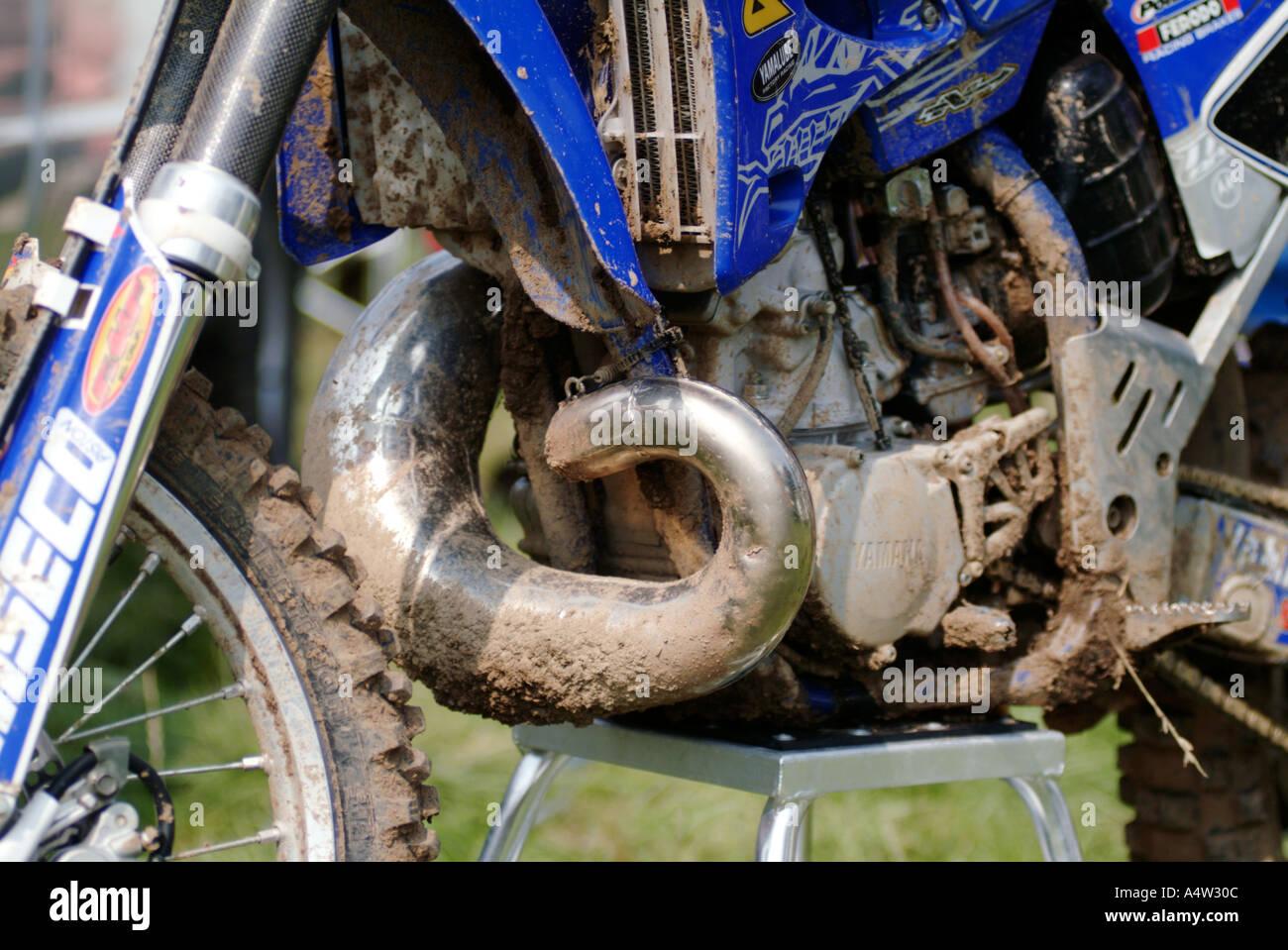 Two 2 Stroke Expansion Pipe Motor Cross X Moto Dirt Bike Scramble
