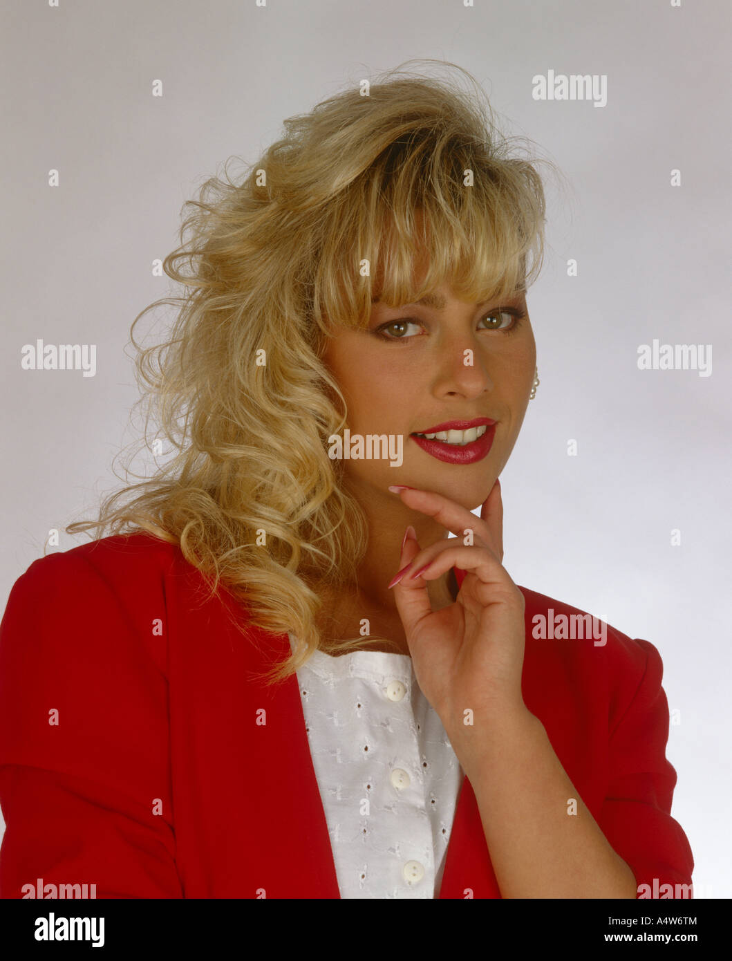TRACEY COLEMAN IN RED JACKET Stock Photo, Royalty Free ...
