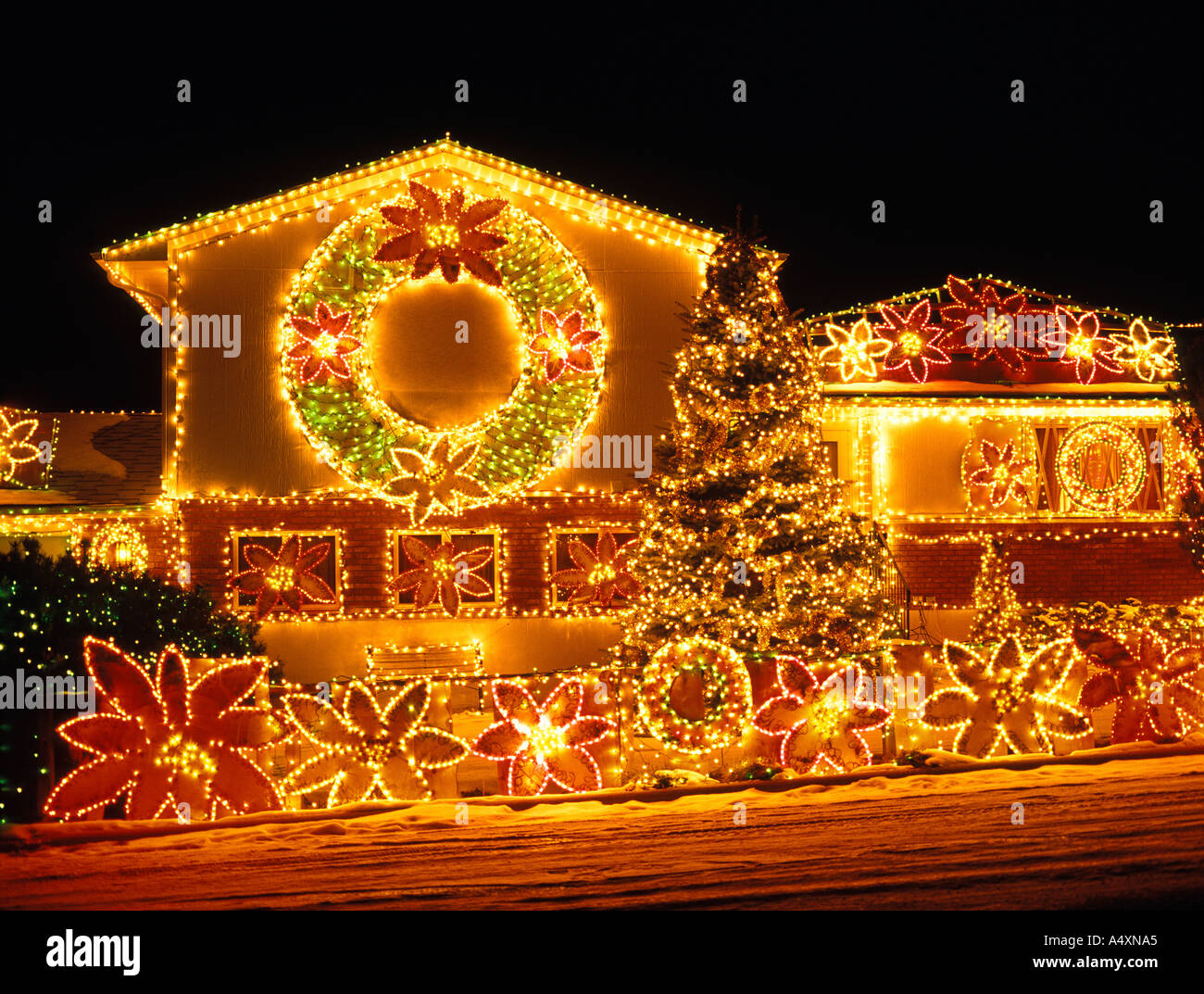Home decorated with Christmas lights and decorations Billings Montana USA Property Release & Home decorated with Christmas lights and decorations Billings ... azcodes.com