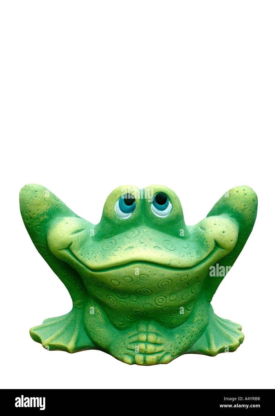 frog clay tonfigur frosch f r den garten stock photo royalty free image 3640247 alamy. Black Bedroom Furniture Sets. Home Design Ideas