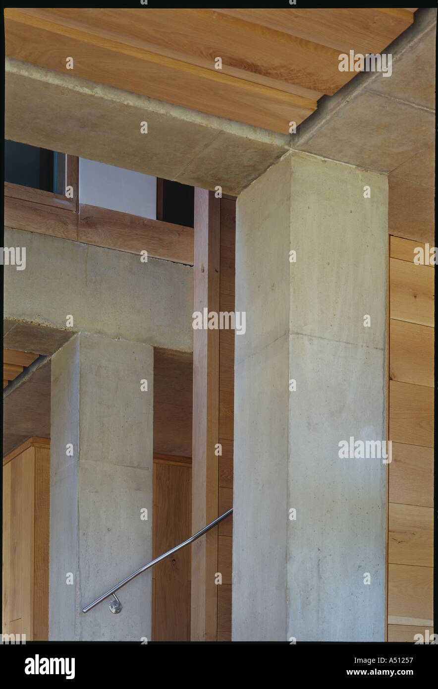 The lodge whithurst park interior detail exposed fair faced stock photo royalty free image for Exposed concrete walls interior