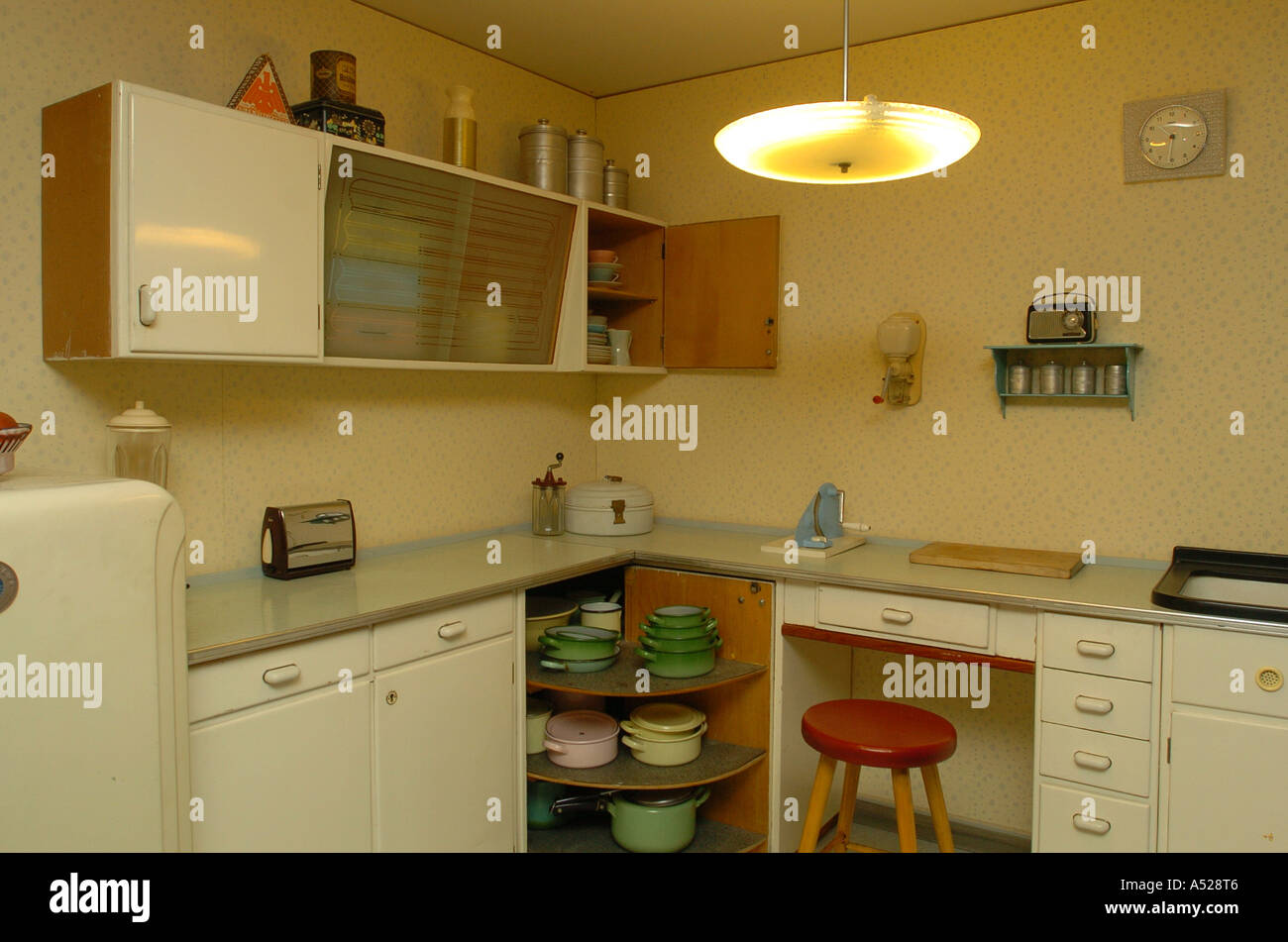 Apartment In 50s Style Kitchen Stock Photo Royalty Free Image