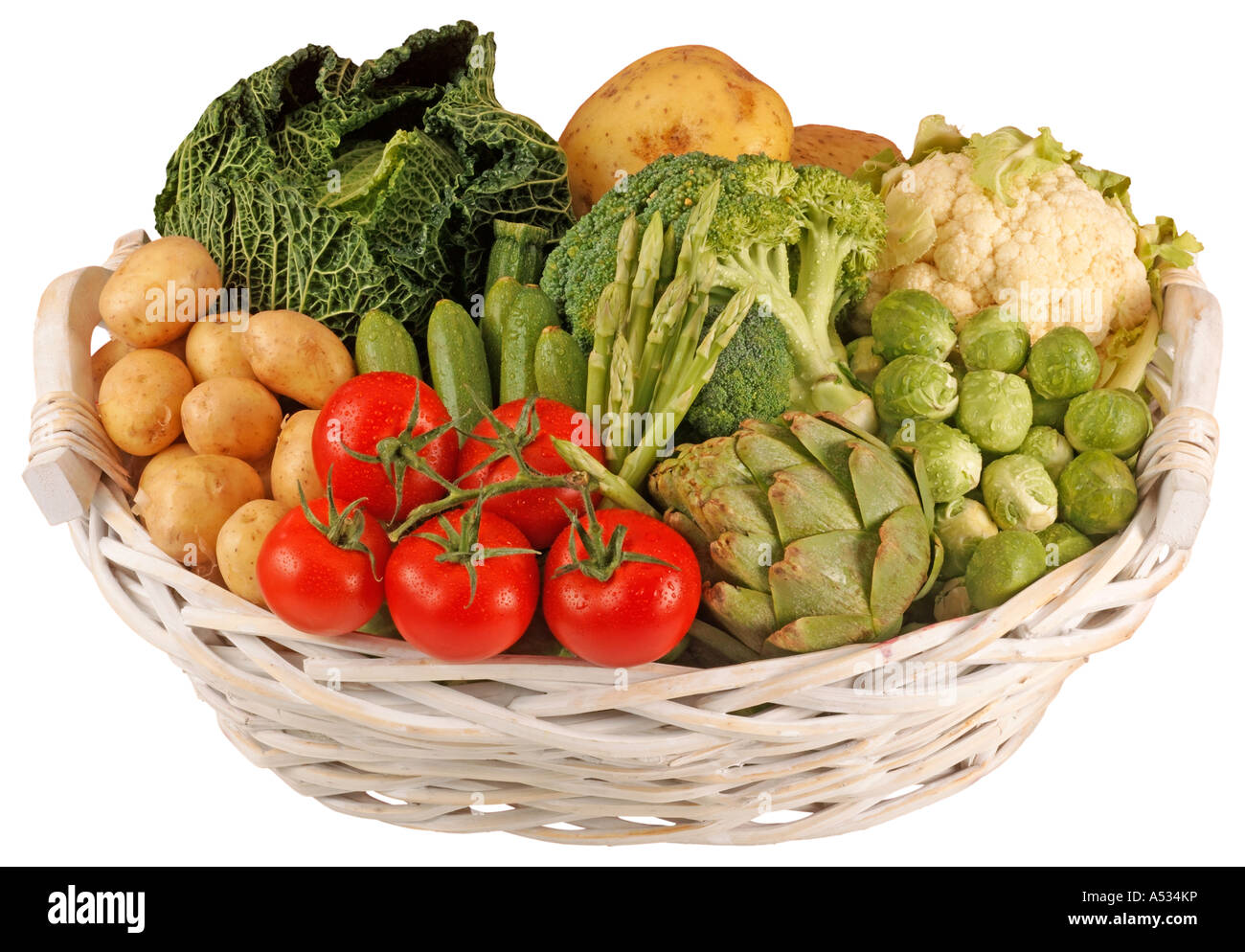 Charming BASKET OF VEGETABLES CUT OUT