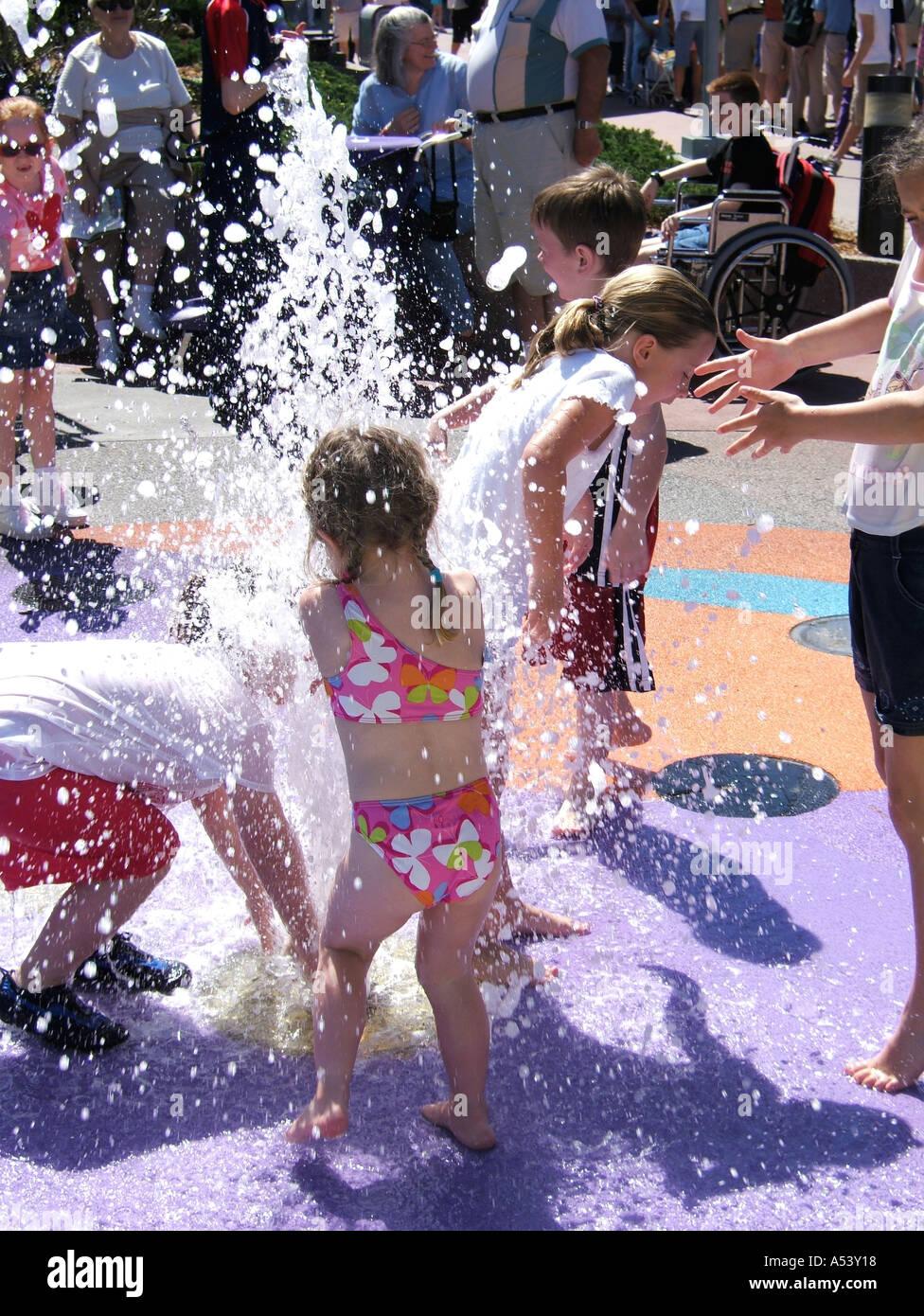 Girl getting wet