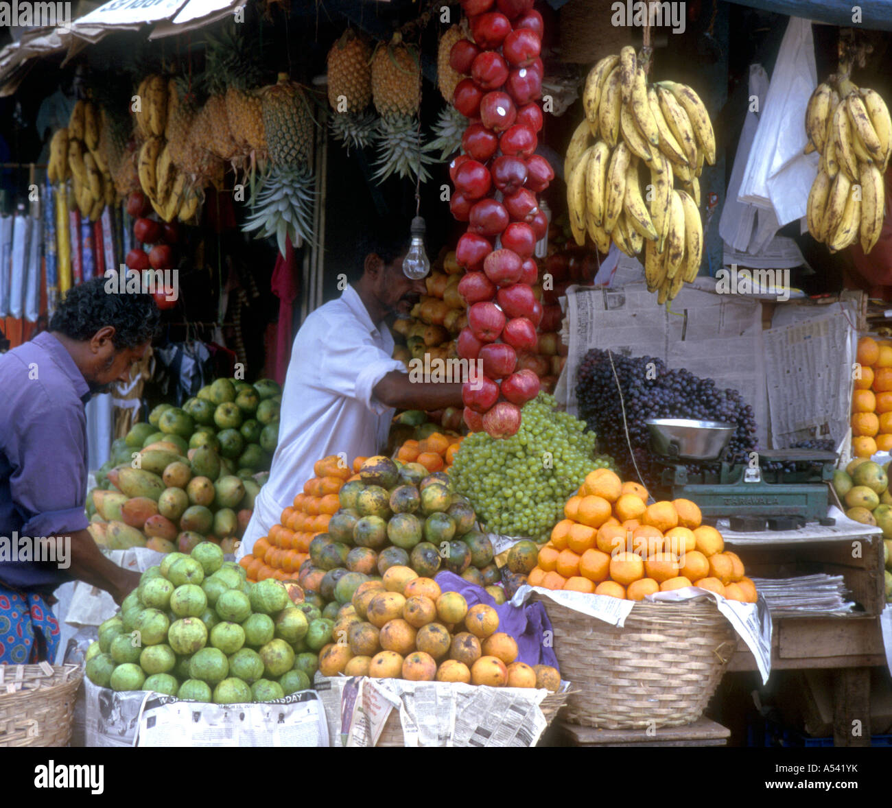 Painet Ha2478 5312 India Food Fruit Stall Trivandrum
