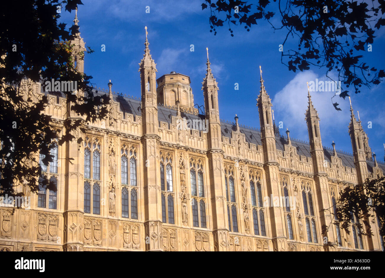 The Houses Of Parliament Seen From Victoria Gardens London Sw1 Stock Photo Royalty Free Image