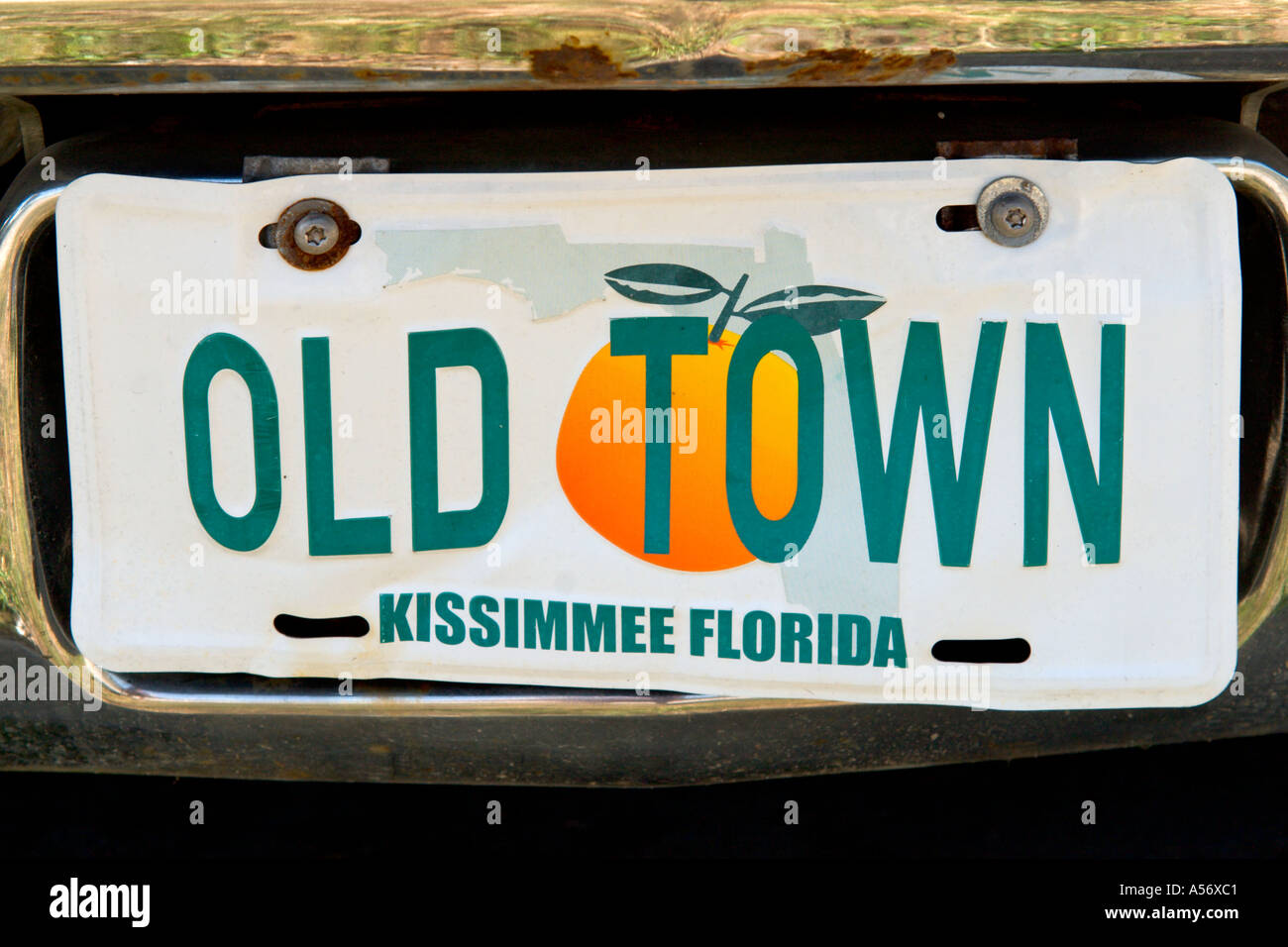 Number Plate for Old Town Kissimmee, Orlando, Florida, USA Stock ...