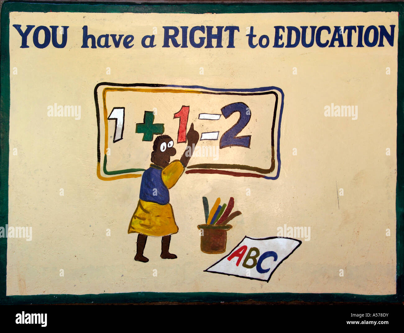 Painet jb1479 sign poster you have a right to education ...
