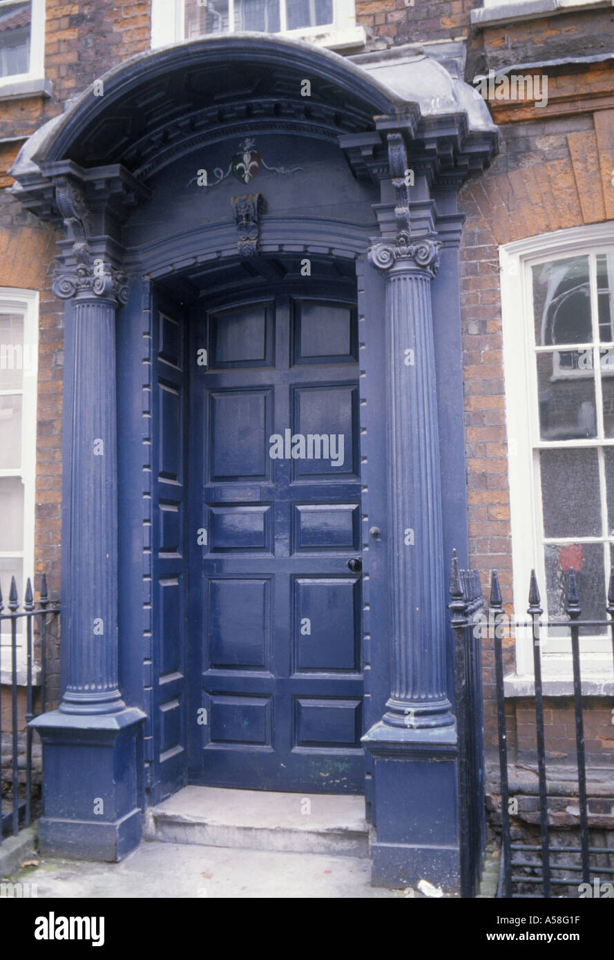 Spitalfields London England front door in Fournier Street early 18th ...