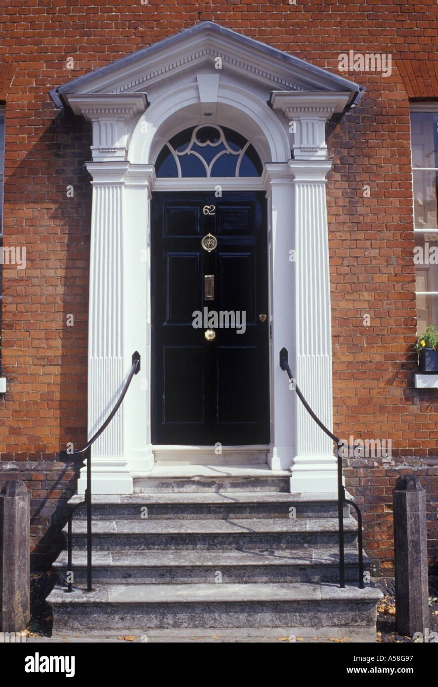 Superb Black Exterior Door 8 Black Front Door Home Depot: Farnham Surrey England Classic Georgian Front Door On
