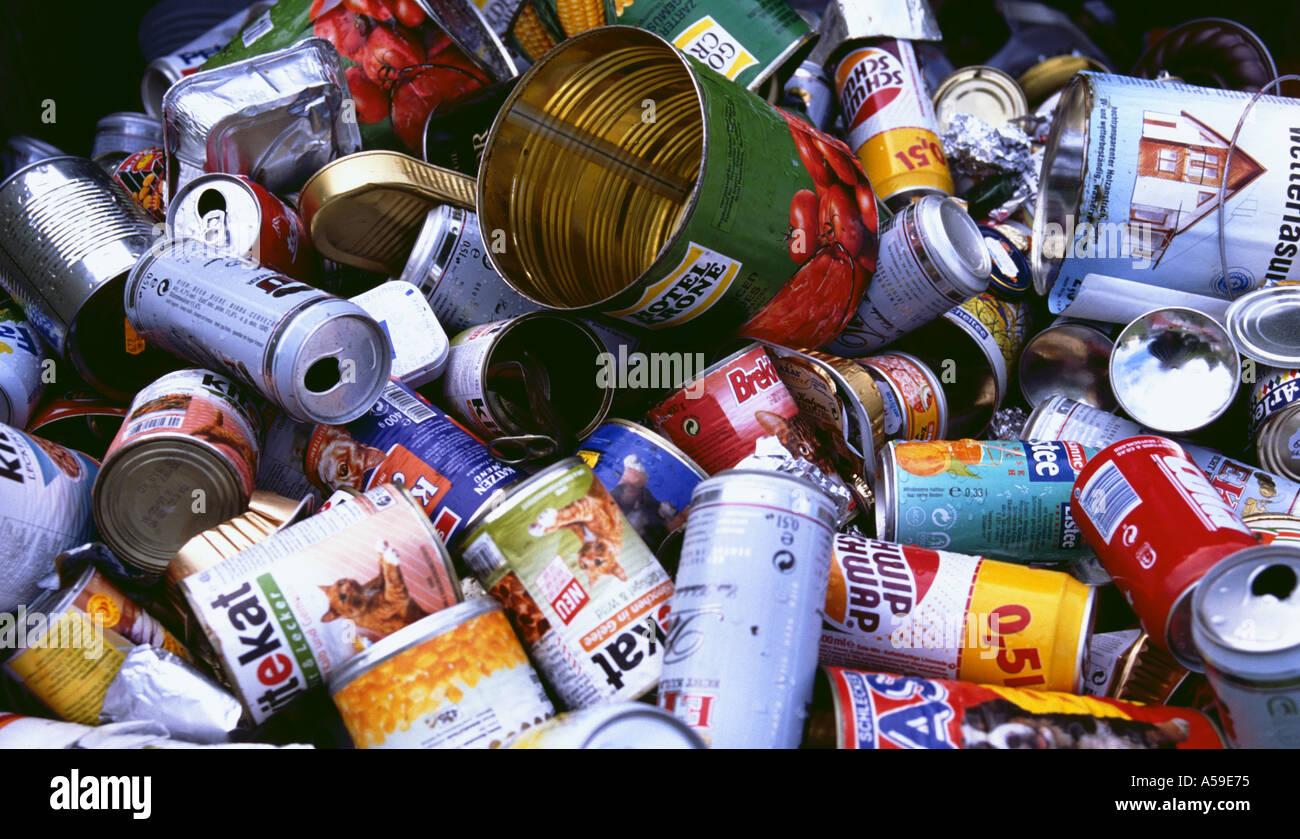 Dosen getr nkedosen blechdosen aluminium wei blech abfall m ll pfand stock photo royalty free - Mobel entsorgung gratis ...