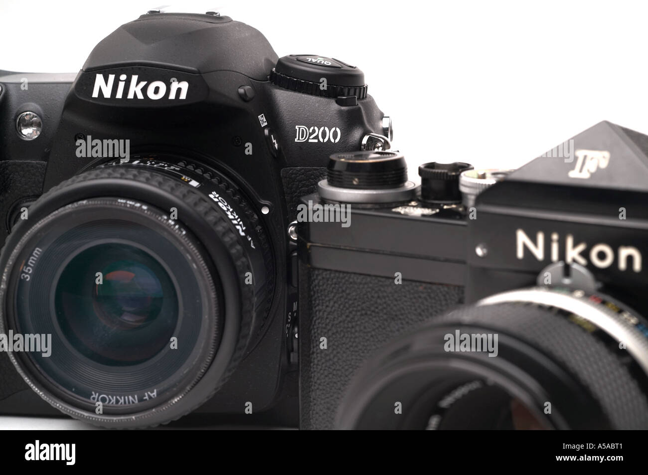 Camera Nikon D200 Dslr Camera nikon d200 digital slr camera f 35 mm film stock photo