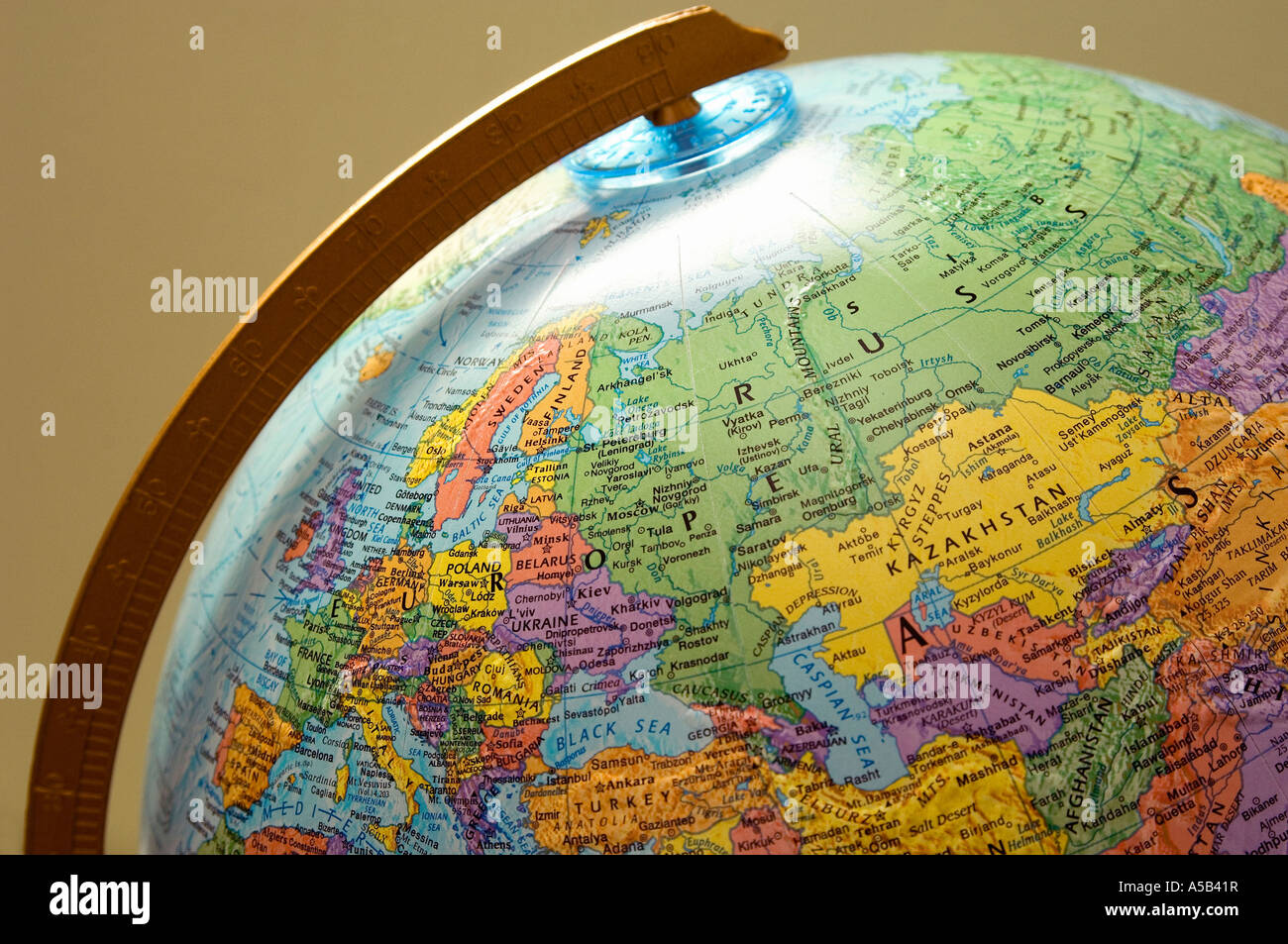 Map Of Europe On A Globe Photo Royalty Free Image 11256466 – Globe Map of Europe