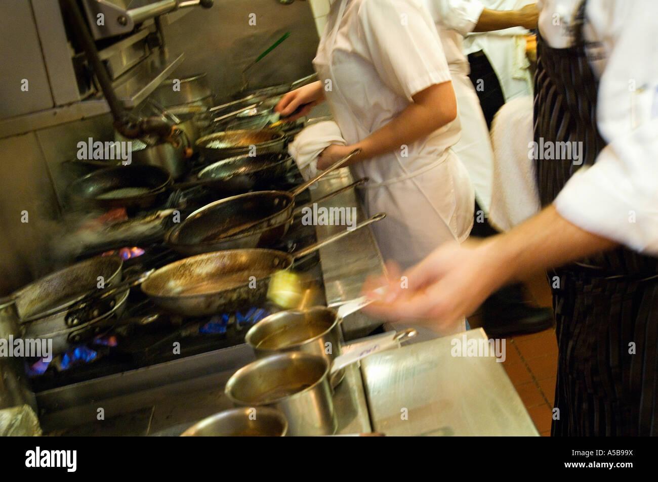Busy Restaurant Kitchen busy restaurant kitchen stock photos & busy restaurant kitchen