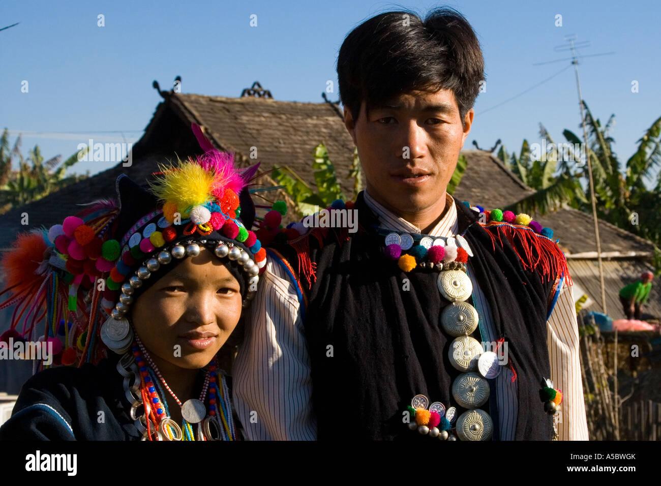 Bride And Groom Akha Hani Wedding Ceremony Gelanghe China