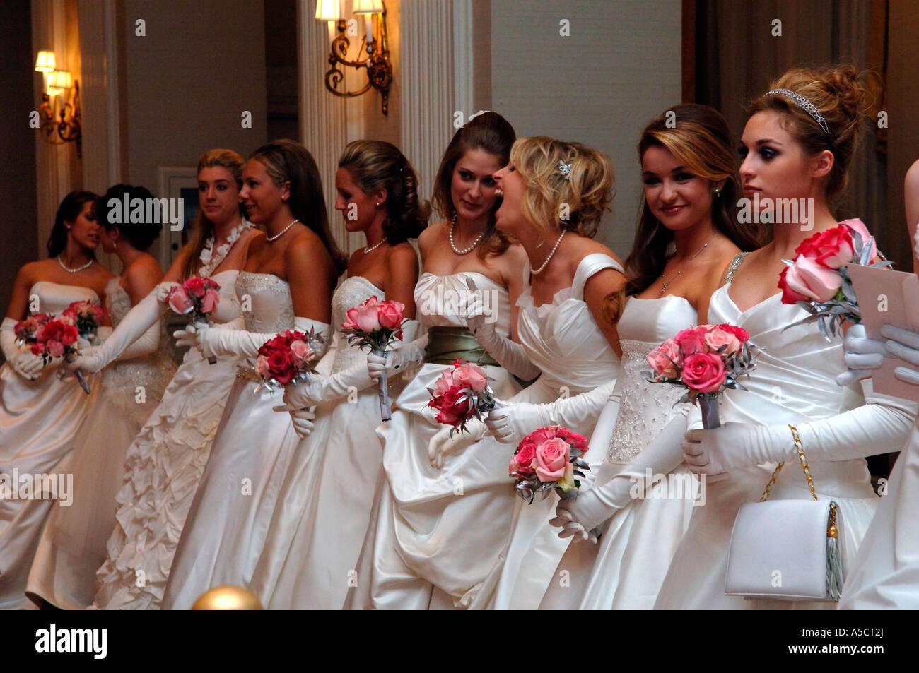 International Debutante Ball ... The receiving line at the 52nd International Debutante Ball at the Waldorf Astoria Hotel in NYC