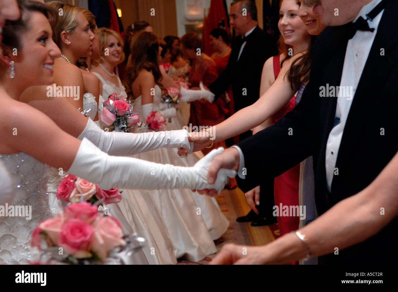 International Debutante Ball The receiving line at the 52nd International Debutante Ball at the Waldorf Astoria Hotel in NYC