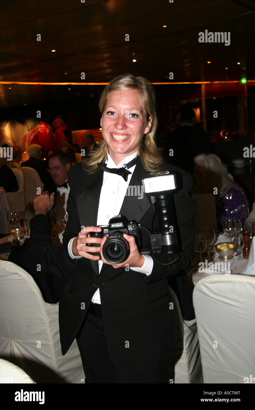 ship photographer on board the holland america cruise ship ms veendam