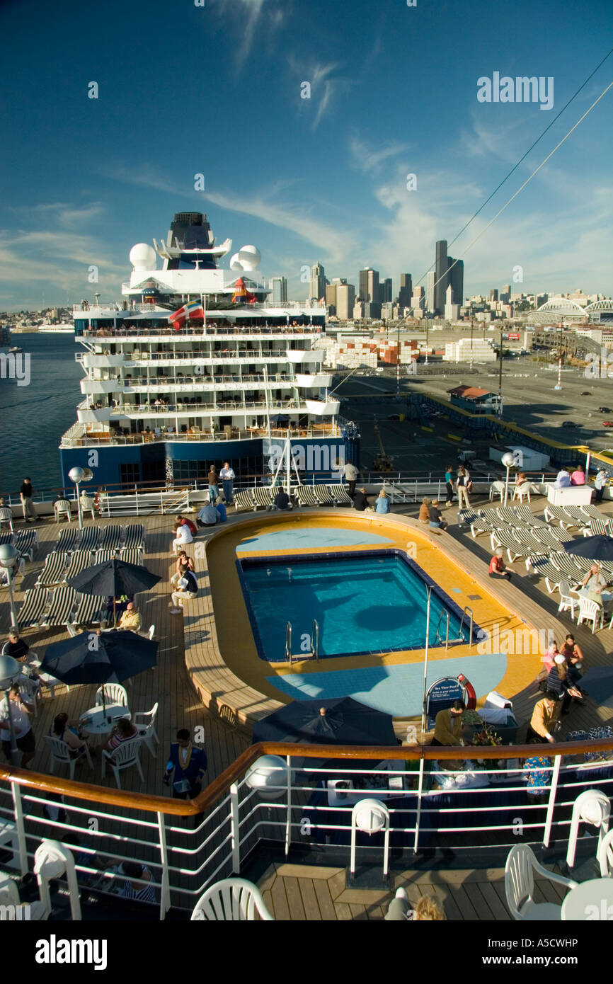 Scenic views of holland america ms veendam and celebrity cruise lines