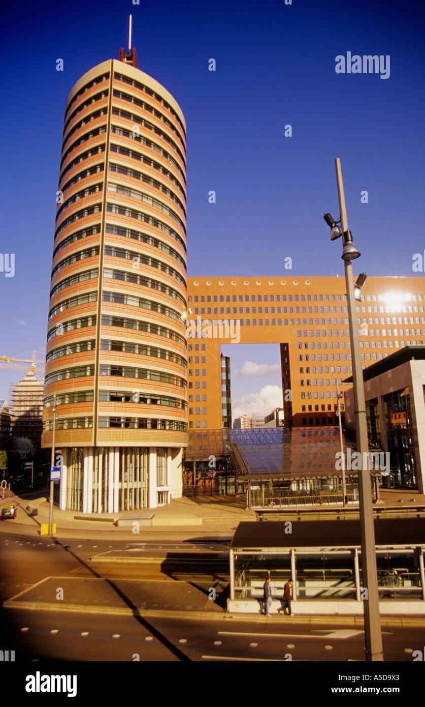 Modern Architecture Netherlands rotterdam, wilhelminaplein, modern architecture, netherlands stock