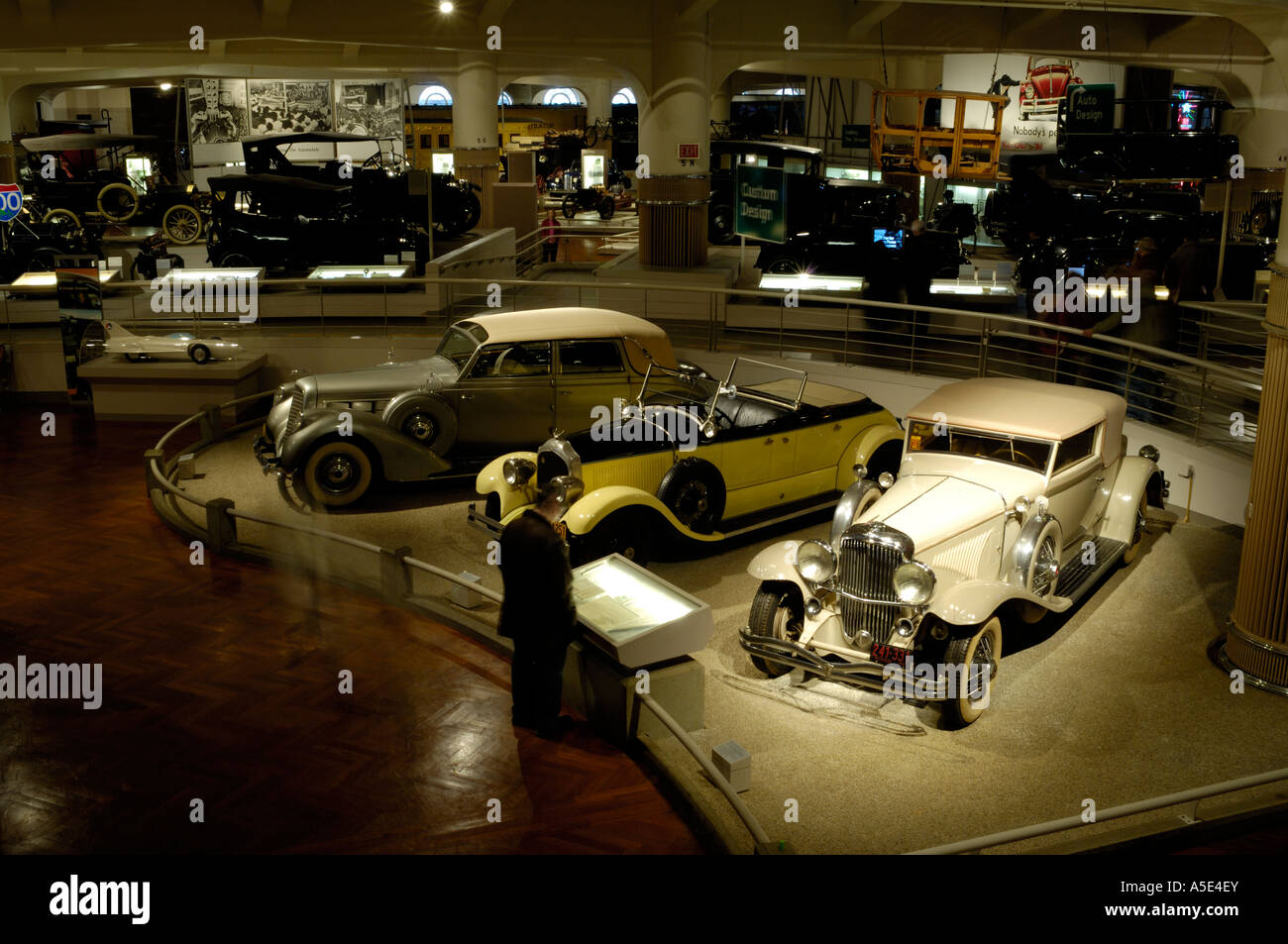Vintage cars on display at the Henry Ford Museum in Dearborn ...