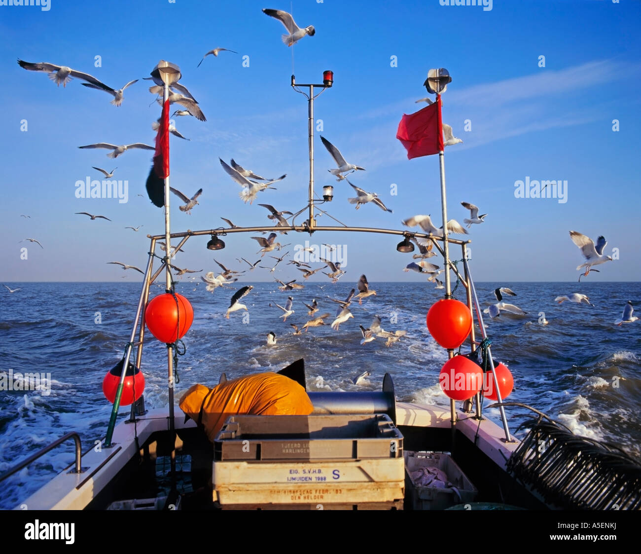 Long line fishing boat north sea stock photo royalty free for Free line fishing