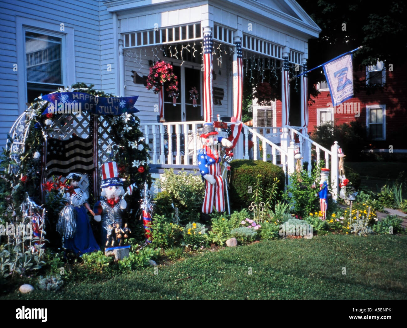 4th July Celebrations House And Garden Decorations Hoosick