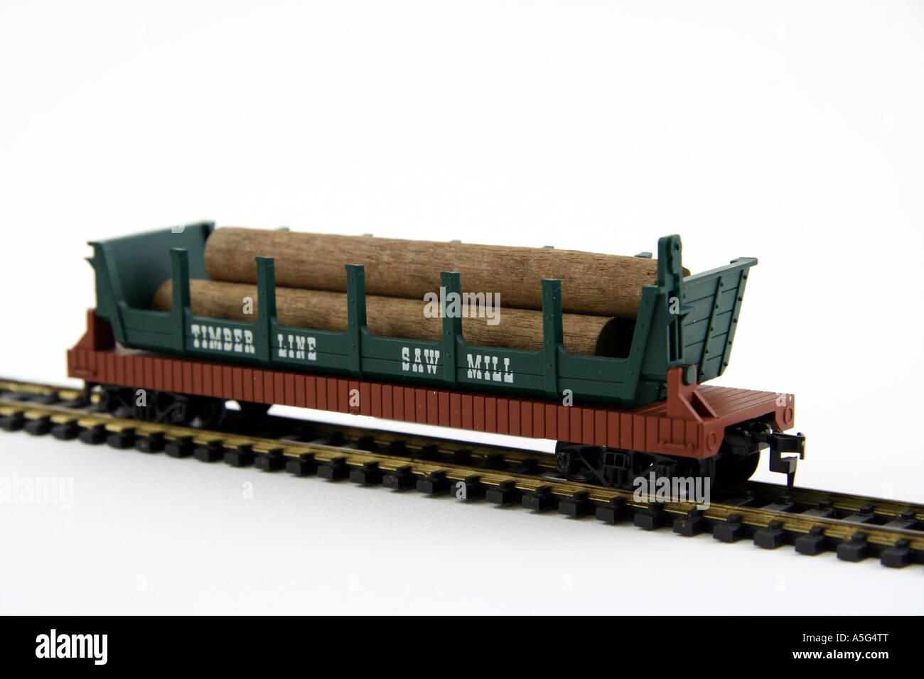 Ho model log cars, train world online store