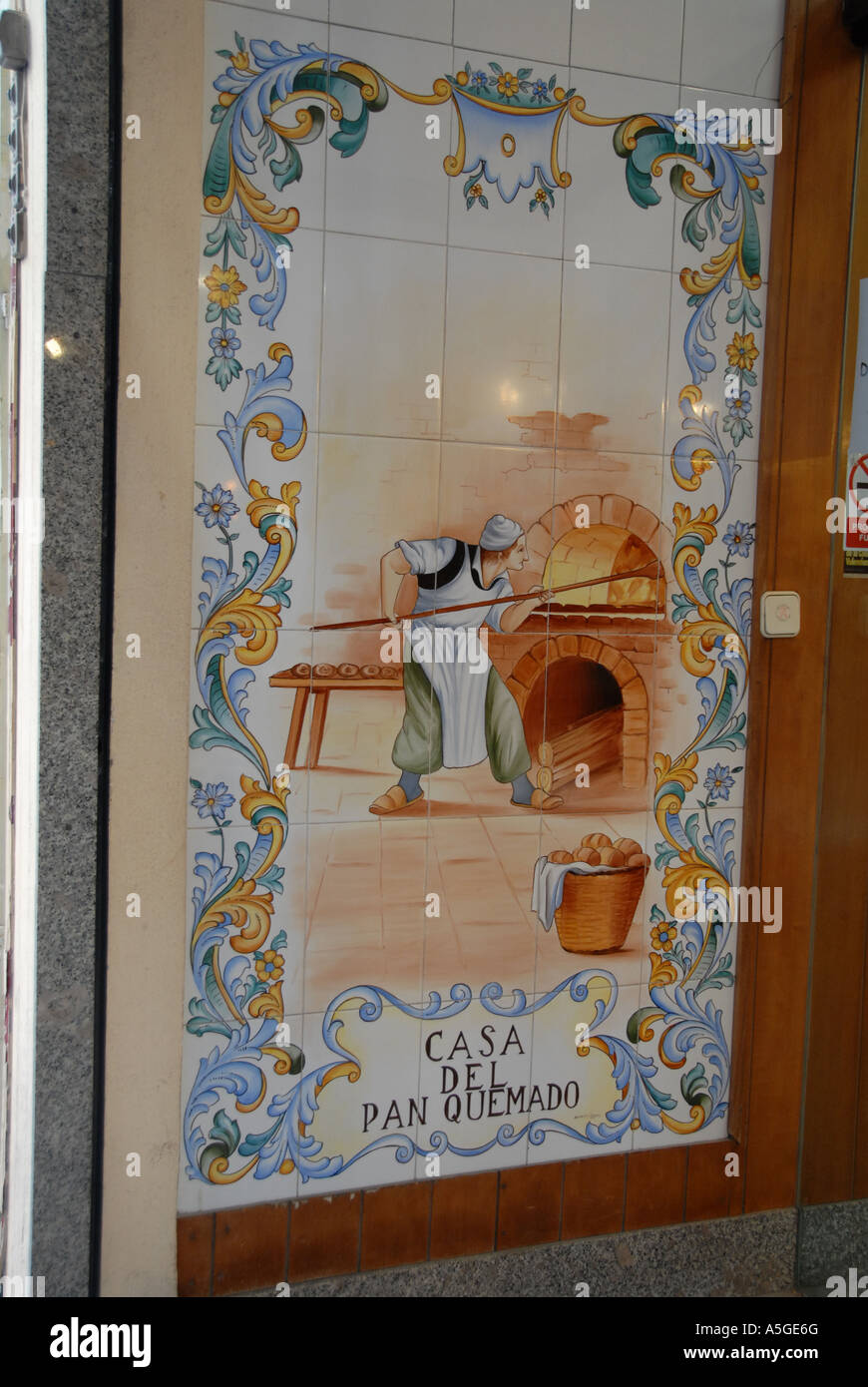 Ceramic mural in a bakers shop valencia spain valerncia is the ceramic mural in a bakers shop valencia spain valerncia is the centre for ceramic tile manufacturing dailygadgetfo Gallery