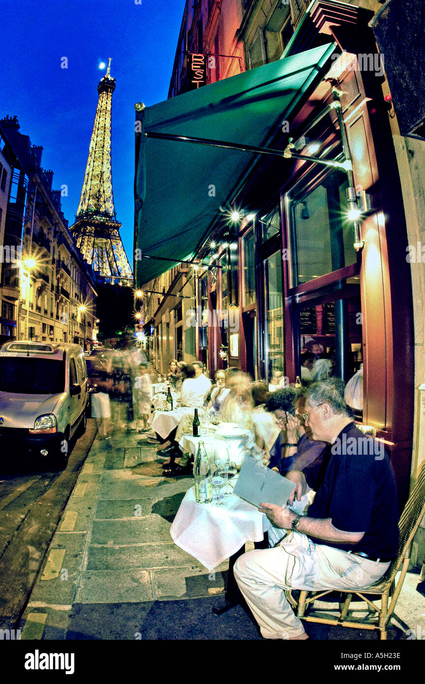 PARIS France French Bistro Restaurant Au Bon Accueil Terrace