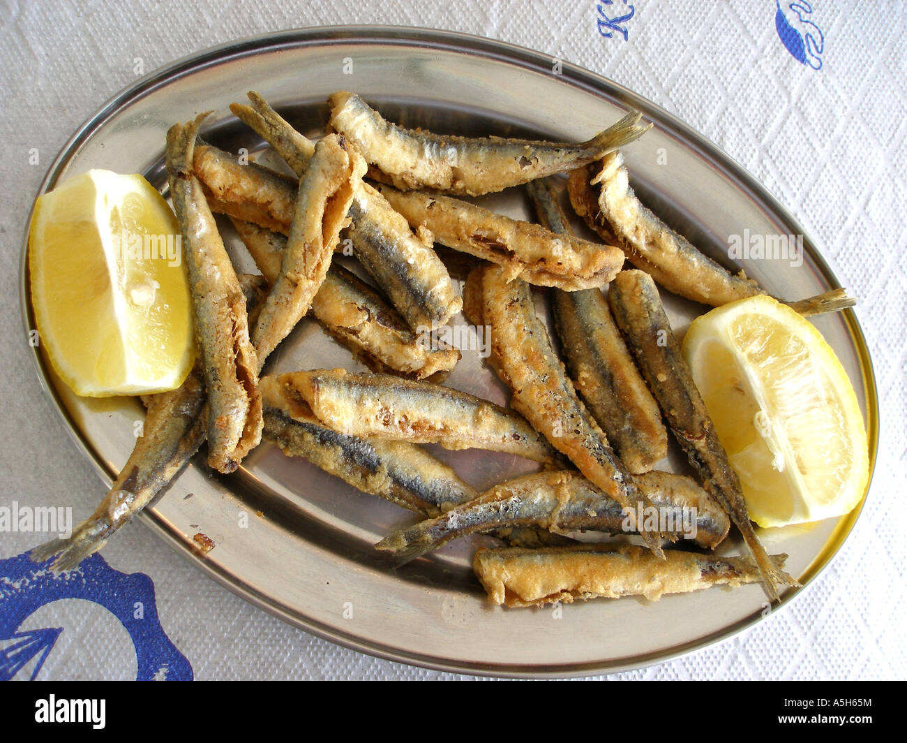 Gavros, Small Fish Used In Greek Cuisine Stock Photo