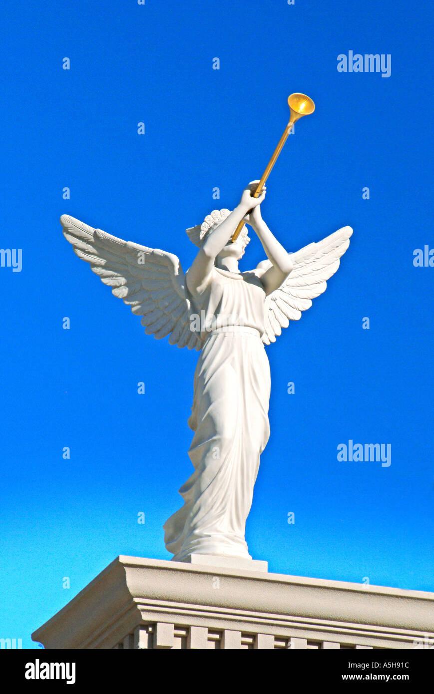 angel blowing