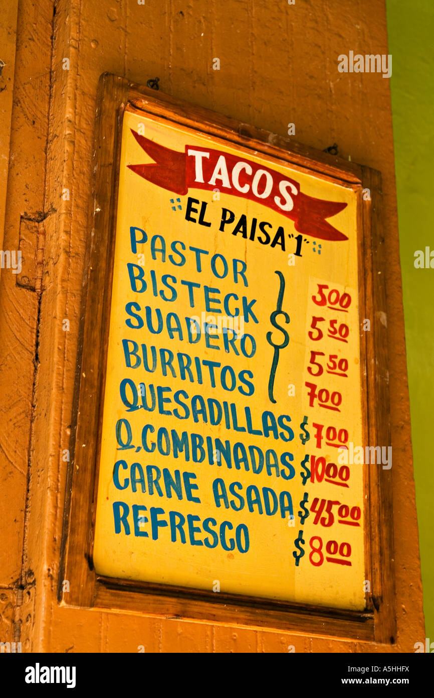 Cost Of Mexican Food In Mexico