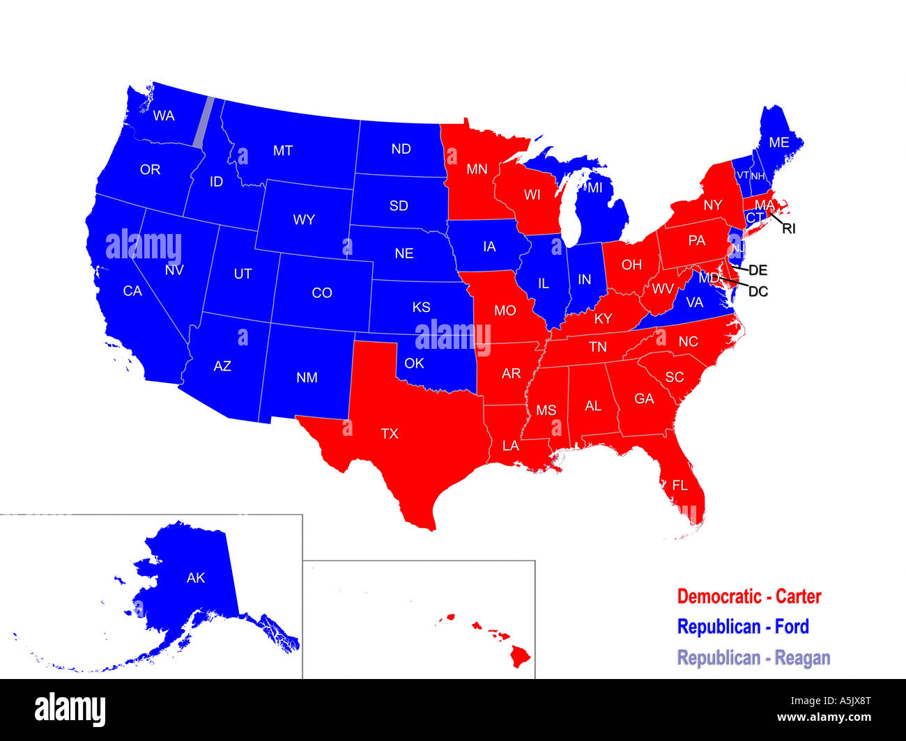 United States Presidential Election Results Map For Stock - Us map of final election results