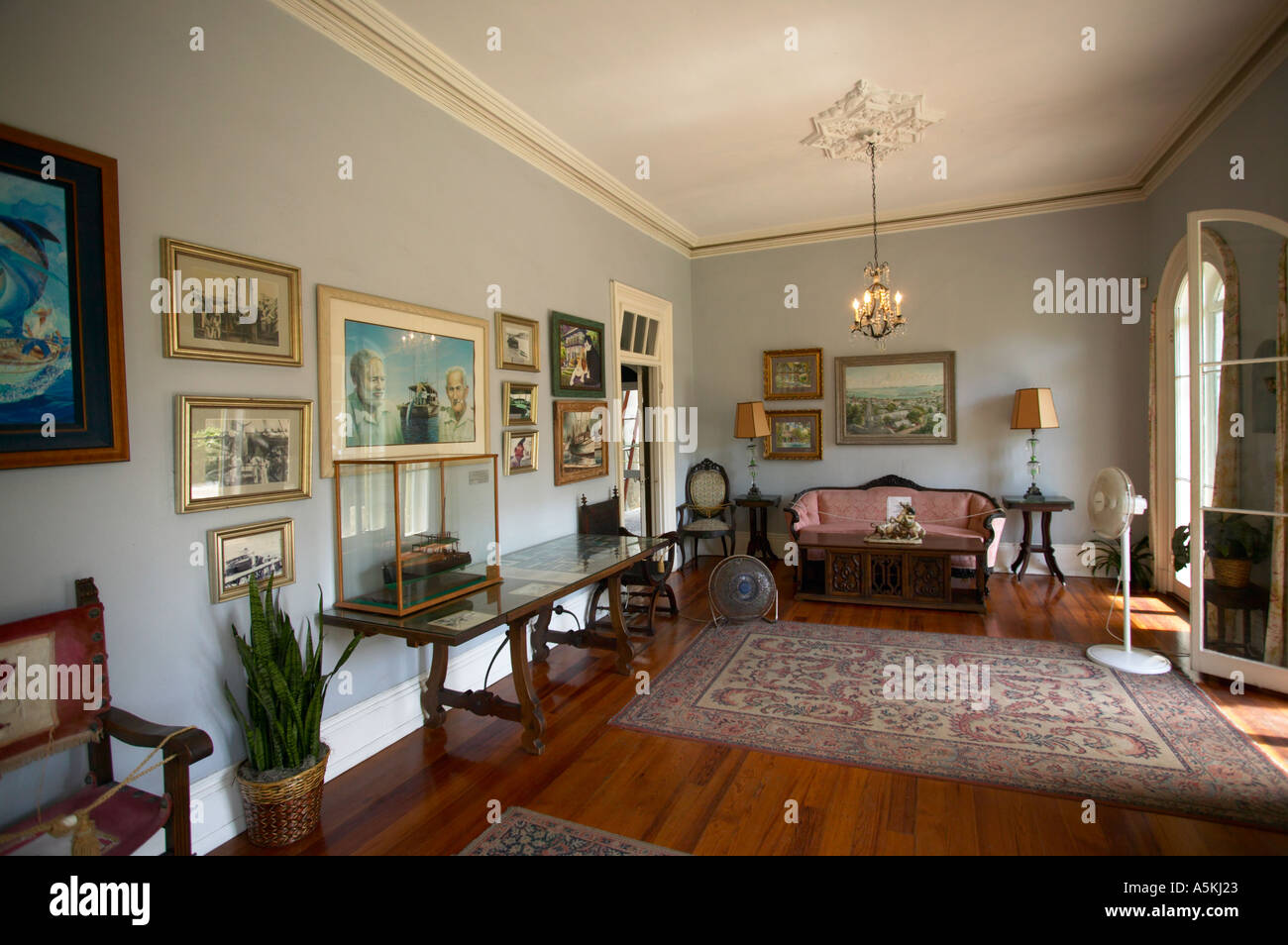 Ernest Hemingway House Interior Key West Florida Usa Stock