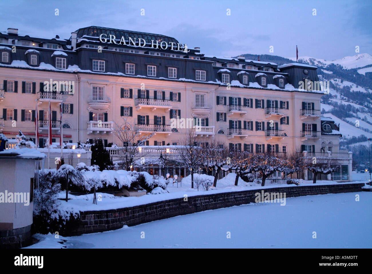 Grand hotel zell am see austria stock photo royalty free for Designhotel zell am see