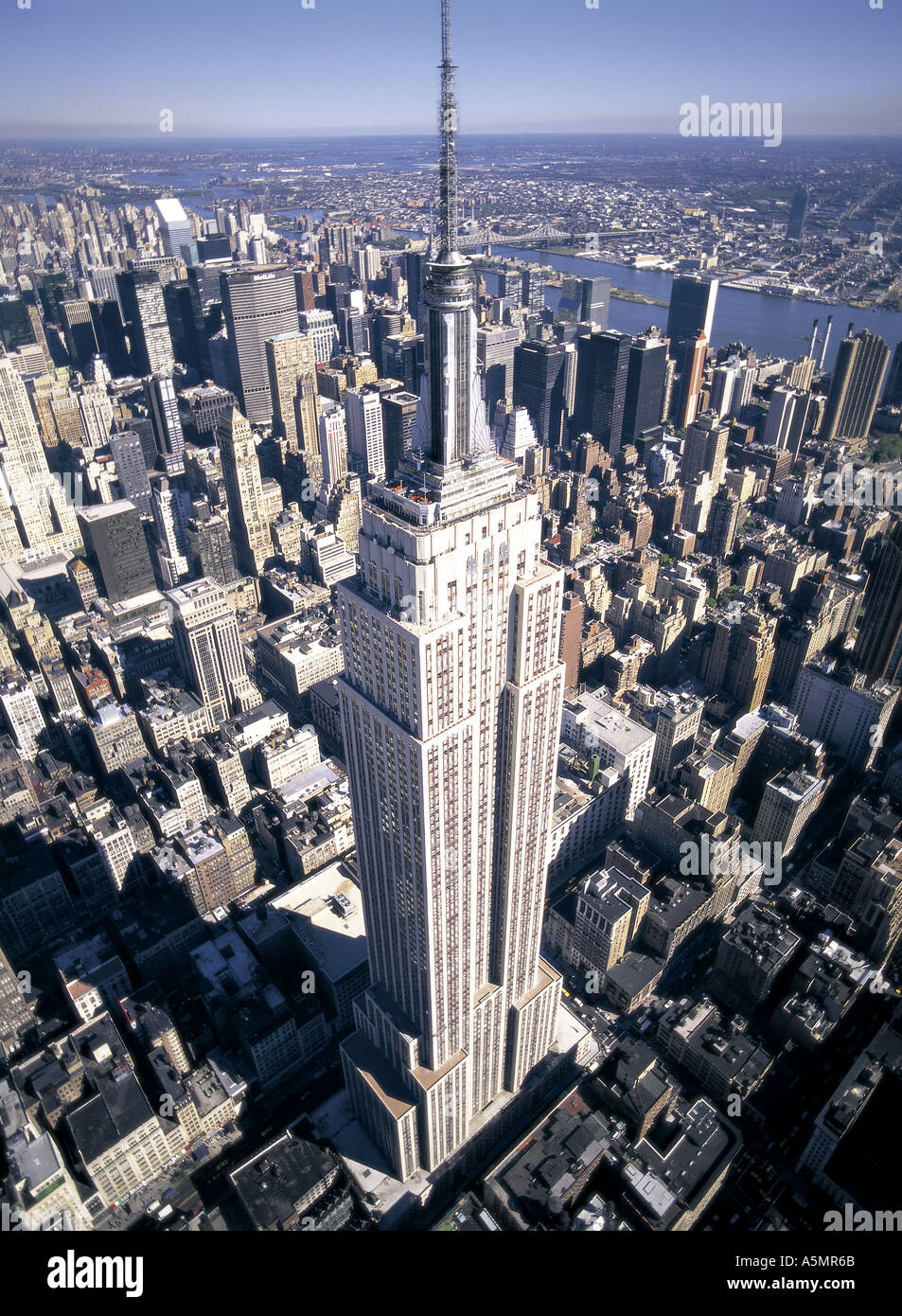 The Empire State Building stands in this aerial photograph taken ...