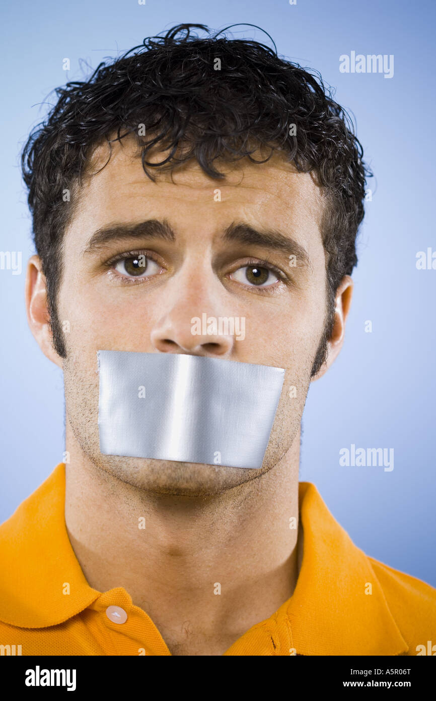 Man Covering Mouth 54