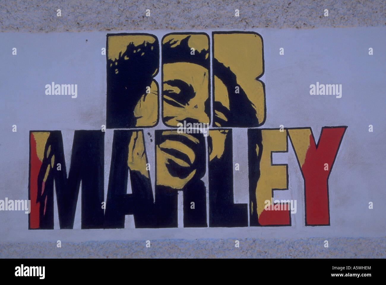 Painet hk2255 bob marley mural jamaica reggae rastafari for Bob marley mural