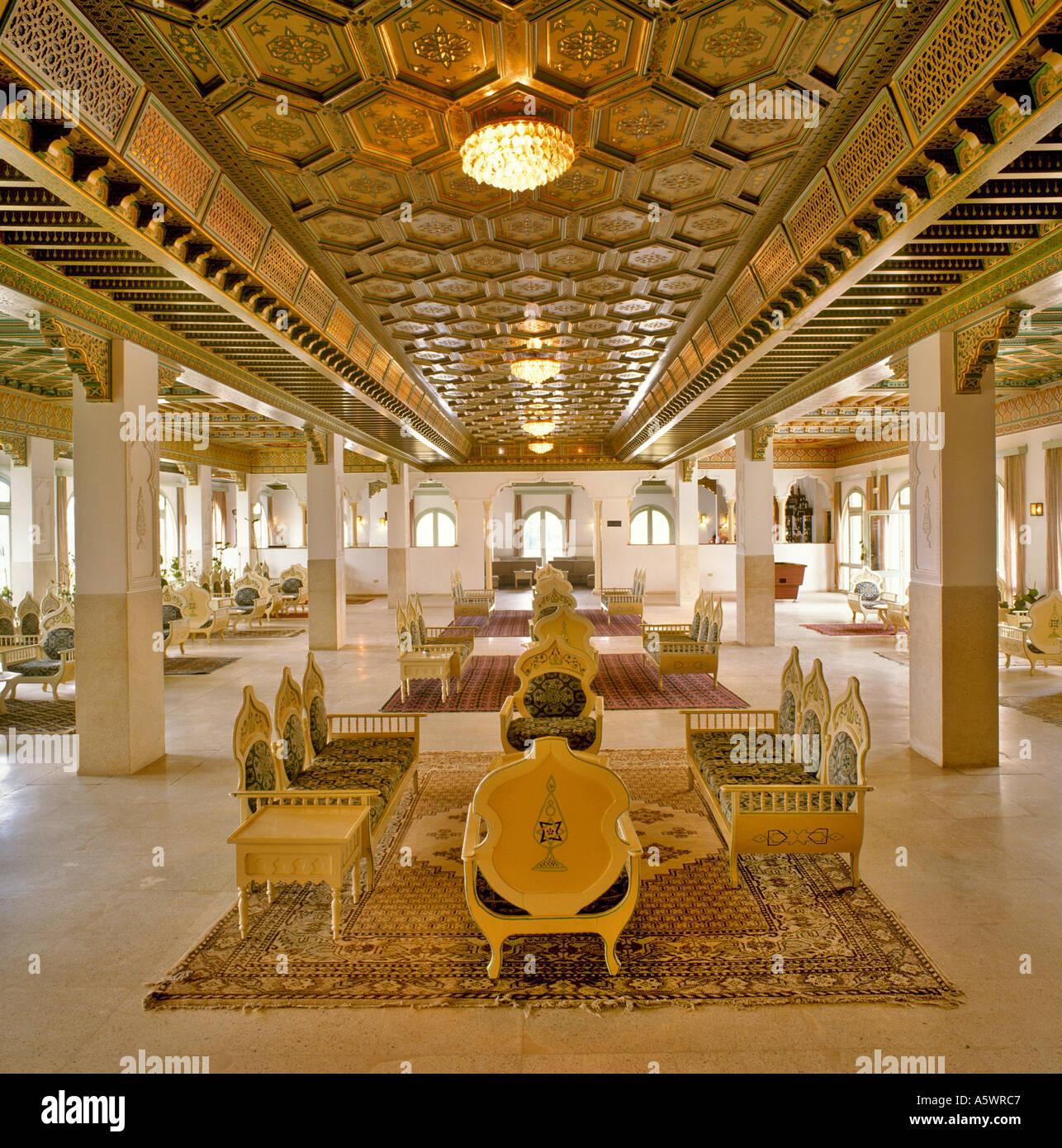 traditional hotel interior hammamet tunisia north africa - Traditional Hotel Interior